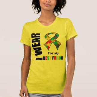 Llevo la cinta del autismo para mi mejor amigo camisetas