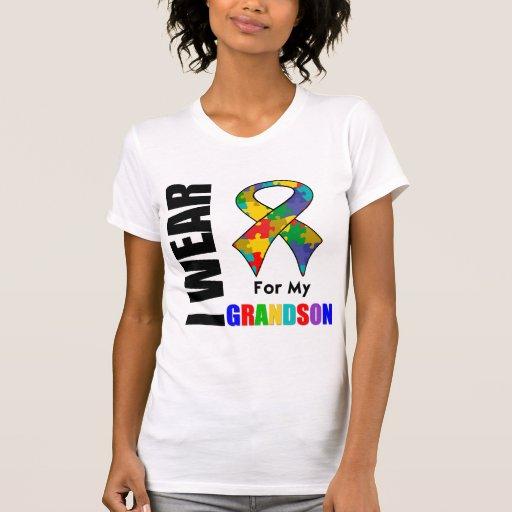 Llevo la cinta del autismo para mi nieto camisetas