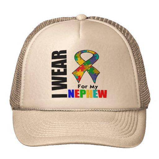 Llevo la cinta del autismo para mi sobrino gorras de camionero