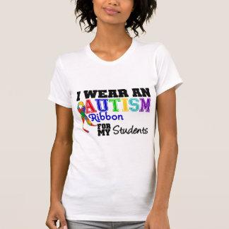Llevo la cinta del autismo para mis estudiantes camisetas
