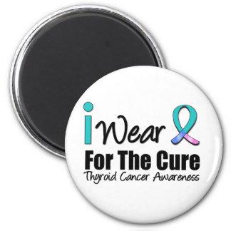 Llevo la cinta del cáncer de tiroides para la cura imán