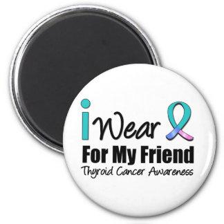 Llevo la cinta del cáncer de tiroides para mi amig iman de nevera