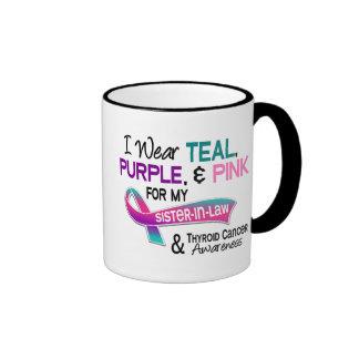 Llevo la cinta del cáncer de tiroides para mi cuña taza