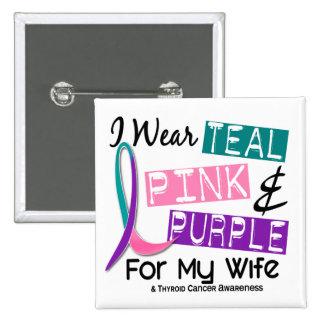 Llevo la cinta del cáncer de tiroides para mi espo pins