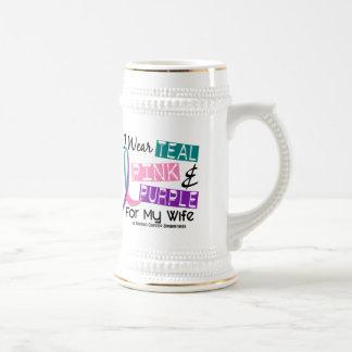 Llevo la cinta del cáncer de tiroides para mi espo taza de café
