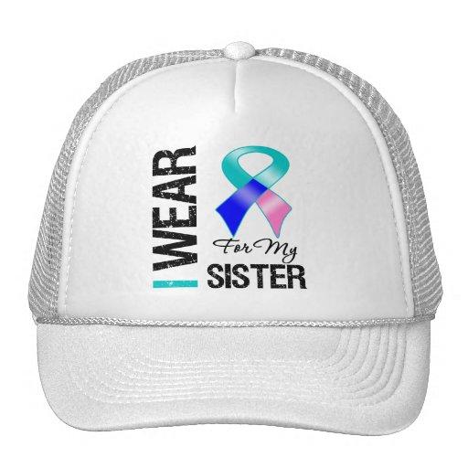 Llevo la cinta del cáncer de tiroides para mi herm gorra