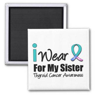 Llevo la cinta del cáncer de tiroides para mi herm iman para frigorífico