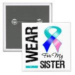 Llevo la cinta del cáncer de tiroides para mi herm pin