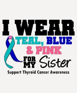 Llevo la cinta del cáncer de tiroides para mi herm camisetas