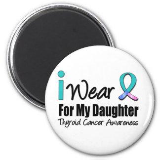 Llevo la cinta del cáncer de tiroides para mi hija imán para frigorifico