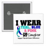 Llevo la cinta del cáncer de tiroides para mi hija pin