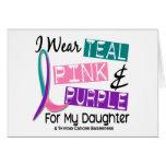 Llevo la cinta del cáncer de tiroides para mi hija felicitacion