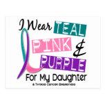 Llevo la cinta del cáncer de tiroides para mi hija tarjeta postal