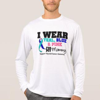 Llevo la cinta del cáncer de tiroides para mi mamá camisetas