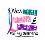 Llevo la cinta del cáncer de tiroides para mi novi tarjetas postales