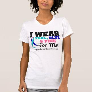 Llevo la cinta del cáncer de tiroides para mí playera