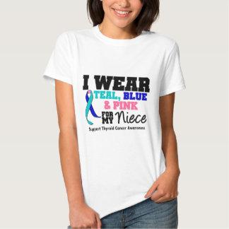 Llevo la cinta del cáncer de tiroides para mi playera