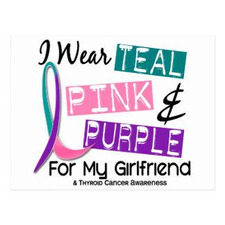 Llevo la cinta del cáncer de tiroides para mi postales