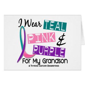 Llevo la cinta del cáncer de tiroides para mi tarjeta de felicitación