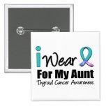 Llevo la cinta del cáncer de tiroides para mi tía pins