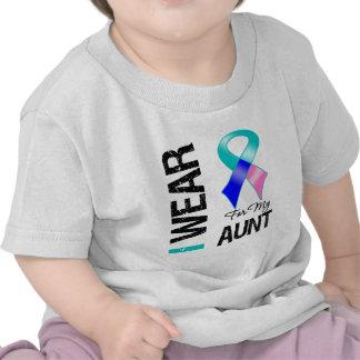 Llevo la cinta del cáncer de tiroides para mi tía camiseta