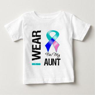 Llevo la cinta del cáncer de tiroides para mi tía playeras