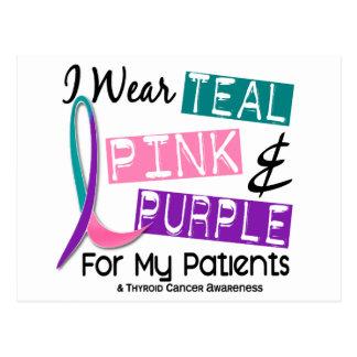Llevo la cinta del cáncer de tiroides para mis tarjeta postal