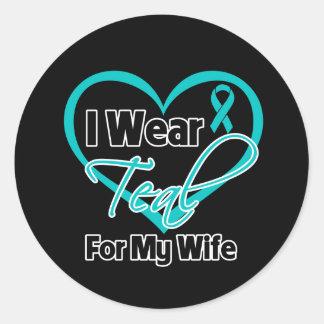 Llevo la cinta del corazón del trullo para mi pegatinas redondas