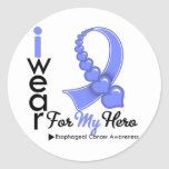 Llevo la cinta del esófago del cáncer para mi héro pegatina