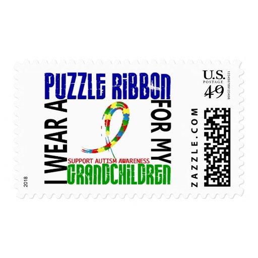 Llevo la cinta del rompecabezas para el autismo de franqueo