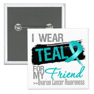 Llevo la cinta del trullo para mi cáncer ovárico pin cuadrado