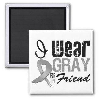 Llevo la cinta gris de la conciencia para mi amigo imán para frigorifico