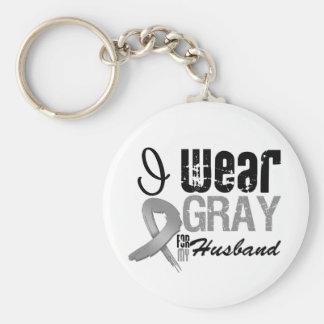 Llevo la cinta gris de la conciencia para mi marid llaveros