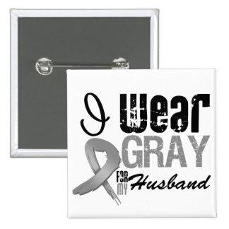 Llevo la cinta gris de la conciencia para mi marid pin