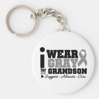 Llevo la cinta gris para mi nieto llaveros personalizados