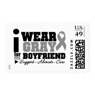 Llevo la cinta gris para mi novio sello