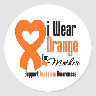 Llevo la cinta madre - leucemia etiquetas