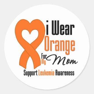 Llevo la cinta mamá - leucemia pegatina