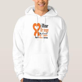 Llevo la cinta (nieta) - leucemia jersey encapuchado