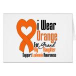 Llevo la cinta (nieta) - leucemia tarjeta de felicitación