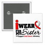 Llevo la cinta oral del cáncer para mi hermana pins