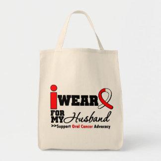 Llevo la cinta oral del cáncer para mi marido bolsa tela para la compra