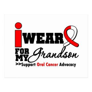 Llevo la cinta oral del cáncer para mi nieto tarjetas postales