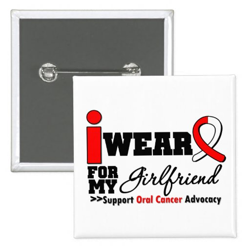 Llevo la cinta oral del cáncer para mi novia pin