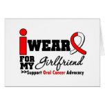 Llevo la cinta oral del cáncer para mi novia felicitación