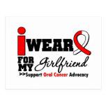 Llevo la cinta oral del cáncer para mi novia tarjetas postales