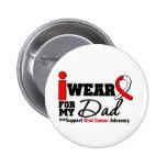 Llevo la cinta oral del cáncer para mi papá pin