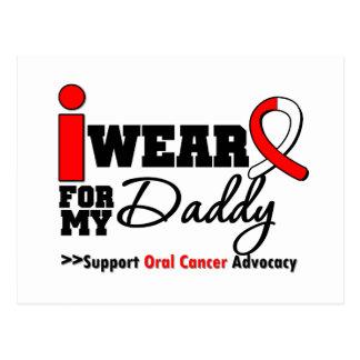 Llevo la cinta oral del cáncer para mi papá tarjeta postal