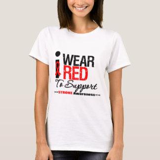 Llevo la cinta roja para apoyar conciencia del playera