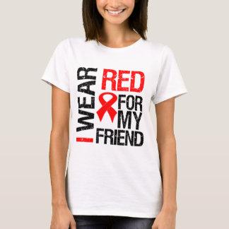 Llevo la cinta roja para mi amigo playera